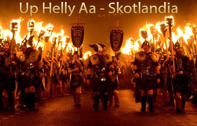 Sejarah Up Helly Aa Skotlandia